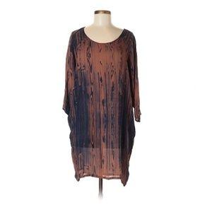 Anthropologie H FREDRIKSSON Silk Bark Print Dress